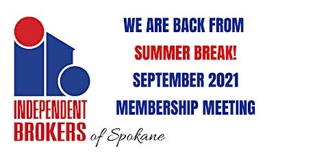 Independent Brokers of Spokane * September Meeting tickets