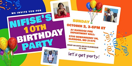 Nifise's 10th Birthday Party tickets