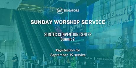 CCF SG SUNDAY WORSHIP SERVICE - 19 September tickets
