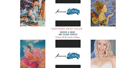 Brushstrokes Wine and Cheese Art Classes with celebrity artist Joanne Coley tickets