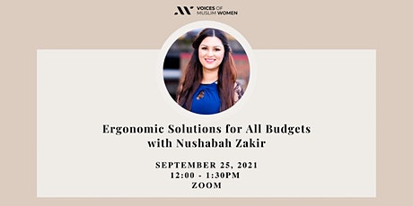 Ergonomic Solutions for All Budgets Workshop tickets