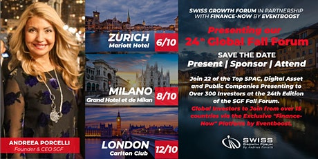 24th Swiss Growth Forum Fall Forum at Milano 08/10 tickets