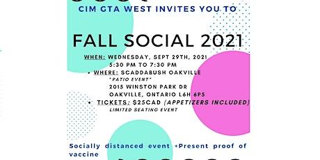 CIM GTA West Fall Social & Cocktail Reception 2021 tickets