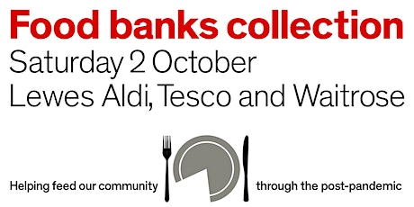 Lewes all-day three supermarkets food banks collection tickets