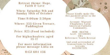 Hope, Faith & Love - Youth Retreat 2021 (9 y 10 Octubre 2021) tickets