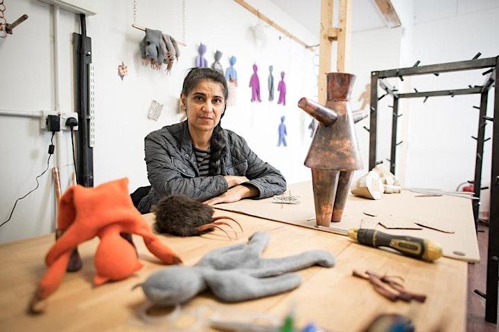 Week 10: Permindar Kaur - Exhibition Visit & Sunday Salon Artist Talk @11am image