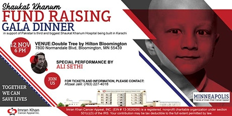 Shaukat Khanum Fundraising Gala Dinner in Minneapolis, USA tickets