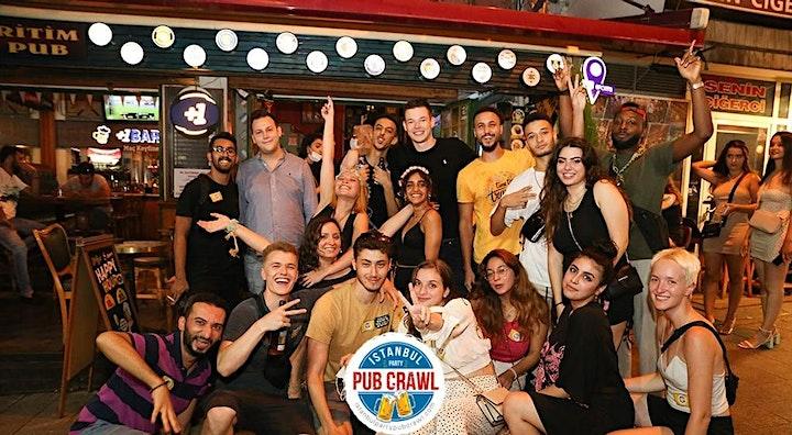Istanbul Party Pub Crawl // Party Bus // 4 Venues // Free Shots //  +MORE!! image