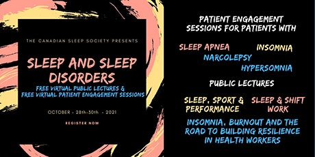 Sleep&Sleep disorders - FREE Public Lectures  & Patient Engagement Sessions tickets