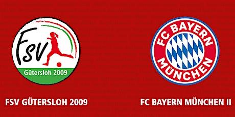 7. Spieltag 2.FBL: FSV Gütersloh - FC Bayern München II Tickets