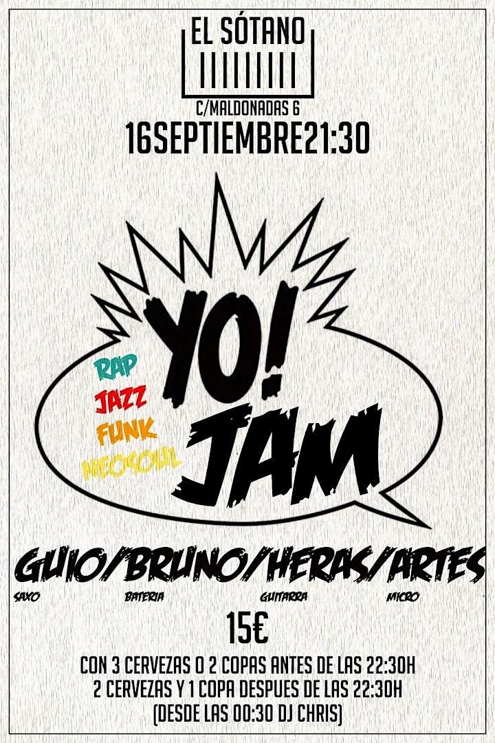Imagen de YO JAM! (Entrada a 15€ con dos copas o tres cervezas hasta las 22:30 h.)