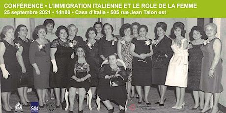 L'immigration italienne et le rôle de la femme billets
