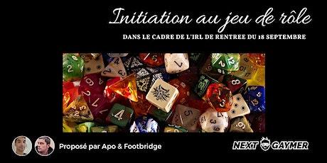 NG Adventures - la rentrée des jeux de rôle IRL tickets