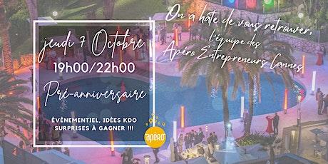Apéro Entrepreneurs Cannes #7 - Pré-Anniversaire, Fêtons ensemble ! billets