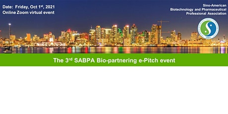 The 3rd SABPA Bio-partnering e-Pitch event tickets