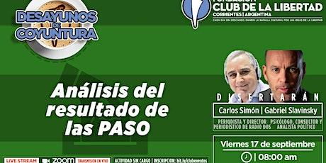 DESAYUNO DE COYUNTURA - ANÁLISIS DE LOS RESULTADOS DE LAS PASO entradas