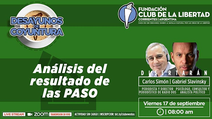 Imagen de DESAYUNO DE COYUNTURA - ANÁLISIS DE LOS RESULTADOS DE LAS PASO