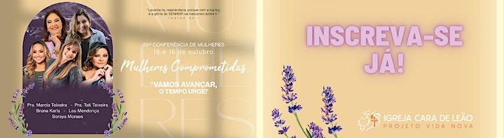 Imagem do evento 26ª Conferência de Mulheres Comprometidas - Vamos avançar, o tempo urge!