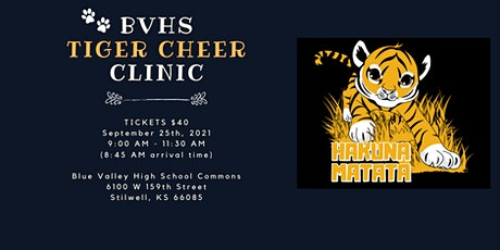 BVHS Tiger Cheer Clinic tickets