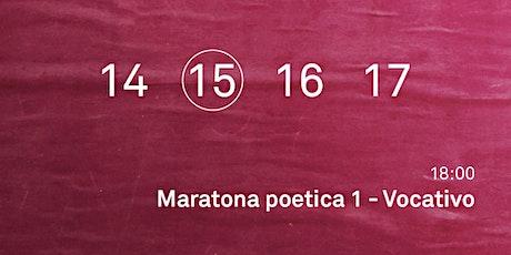 Maratona poetica 1 - Vocativo biglietti