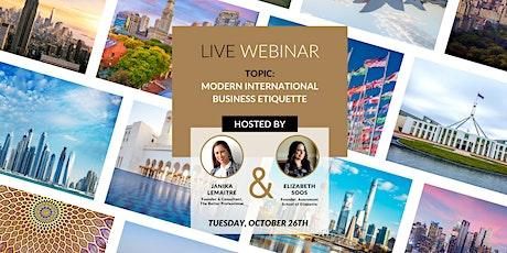 """LIVE WEBINAR Topic: """"Modern International Business Etiquette"""" tickets"""