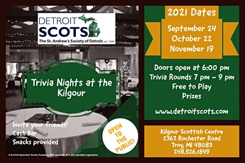 Trivia Nights at the Kilgour tickets