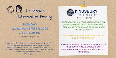 11+ Parents Information Evening tickets