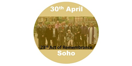 Soho Act of Remembrance 2022 tickets
