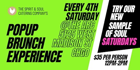 Sample of Soul Pop-Up Brunch Experience tickets