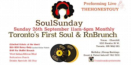 SoulSundaysToronto -Old School RnB Brunch tickets