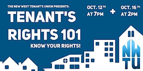 Tenants Rights 101 tickets