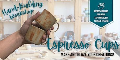 Adult Hand-Building Espresso Cups Workshop tickets