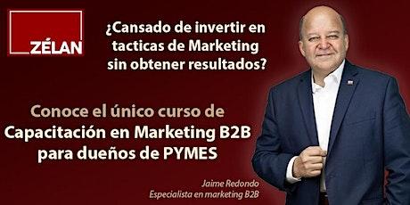 Capacitación en Marketing B2B para dueños de PYMES. entradas