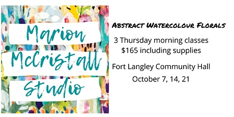 Abstract Watercolour Florals Workshop tickets