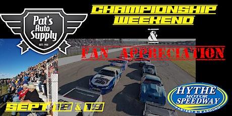 Weekend #4 September 18&19 Pat's Auto Supply Fan Appreciation Weekend! tickets