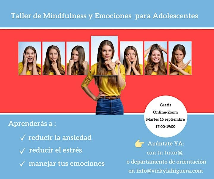 Imagen de Taller online Gratuito Mindfulness y Emociones para Adolescentes y Jóvenes.