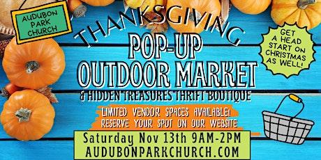Thanksgiving Outdoor Market Booth Space Rental at Audubon Park Church tickets