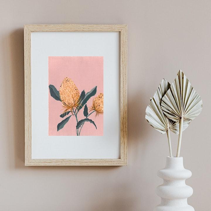 Acrylic Botanicals with Artist & Art Therapist Taija Wilde image