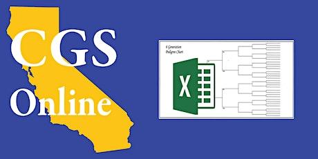 Online - Excel for Genealogists tickets