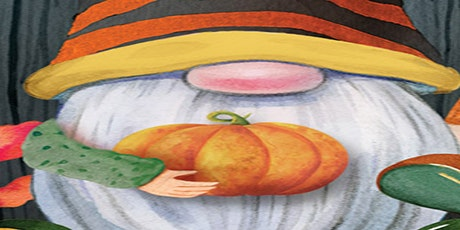 Celebrating Harvest Gnome canvas painting at O'Gannigans, Sun. 9/26 at 5 pm tickets