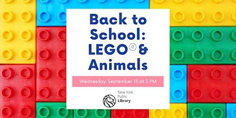Back to School: Lego vs Animals tickets