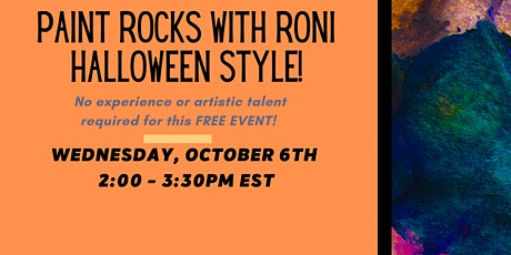 Paint Rocks with Roni - Halloween Edition! tickets