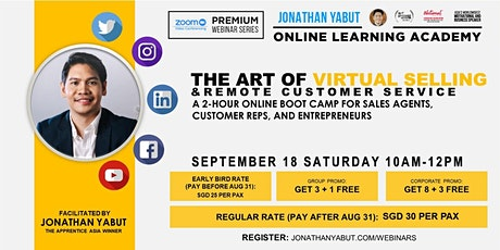 The  Art of Virtual Selling & Remote Customer Service with Jonathan Yabut tickets