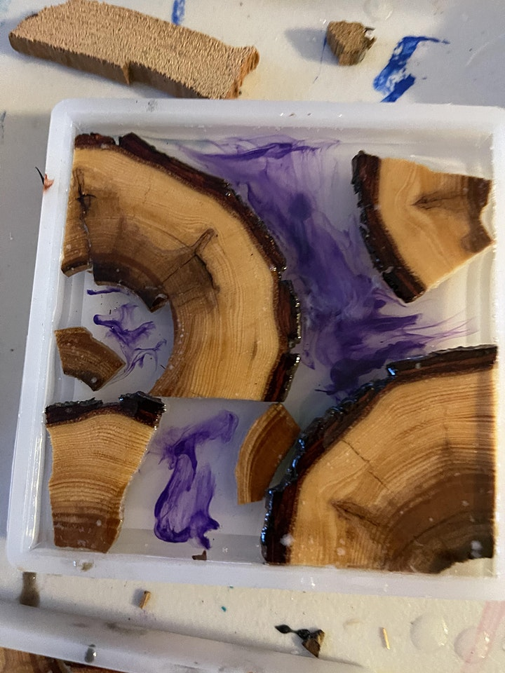 Red Cedar x Wood Coasters Made with Resin! image