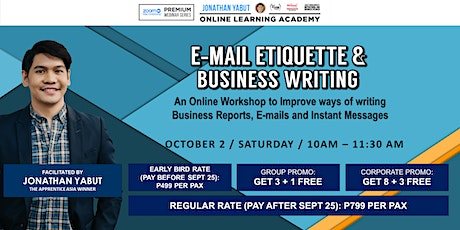 E-mail Etiquette and Business Writing with Jonathan Yabut tickets
