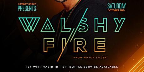 Walshy Fire of Major Lazer Live in Los Angeles tickets