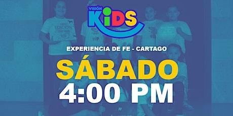 Kids Cartago. Experiencia de Fe  4:00pm entradas