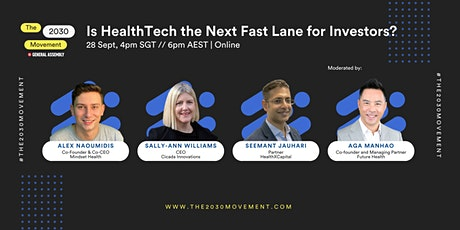 2030 Movement: Is HealthTech The Next Fast Lane For Investors? tickets