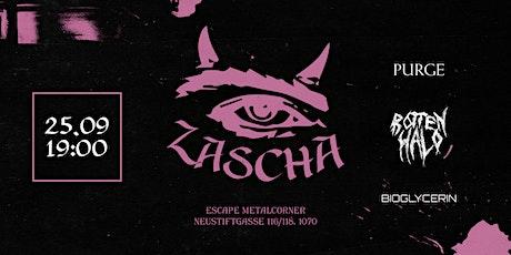 Zascha, Rotten Halo, Bioglycerin, Purge LIVE 25.09 @ Escape Metalcorner Tickets