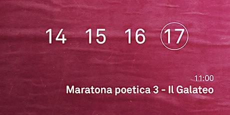 Maratona poetica 3 - Il Galateo biglietti